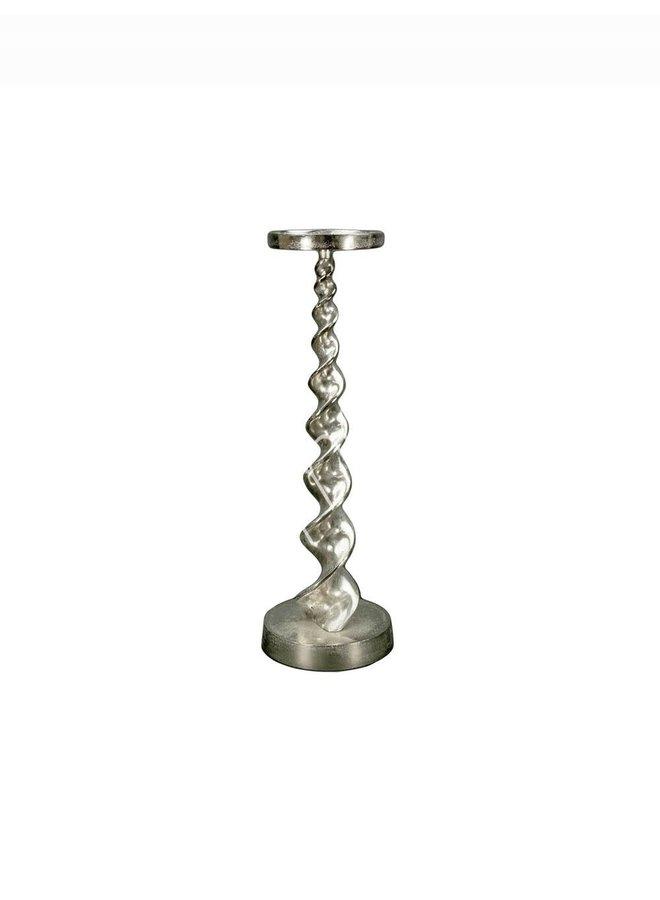 Candle holder alu raw/ni 16x16x50