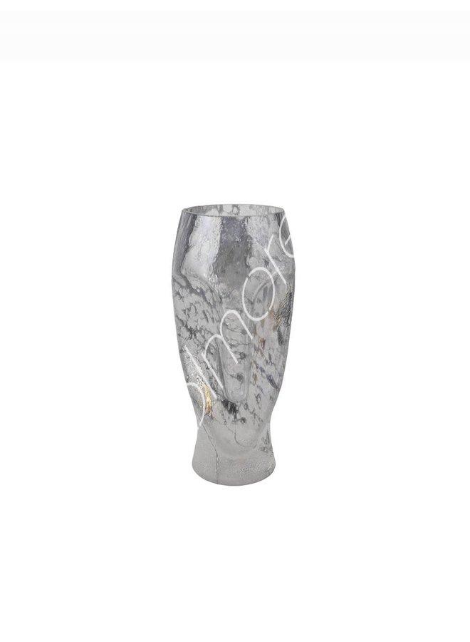 Vase handm mouthblown blue 15x15x3