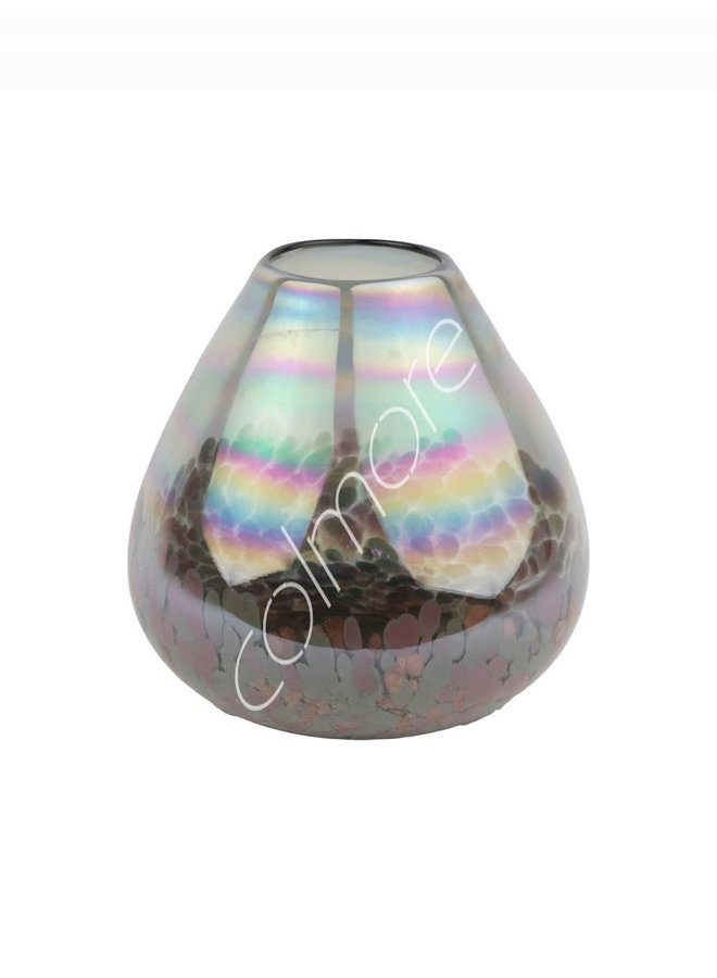 Vase handm mouthblown Grey 17x15x4