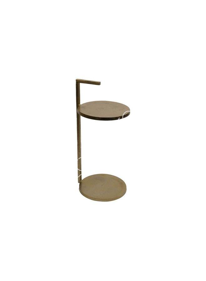 SIDE TABLE ALU RAW BRONZE 33X31X66