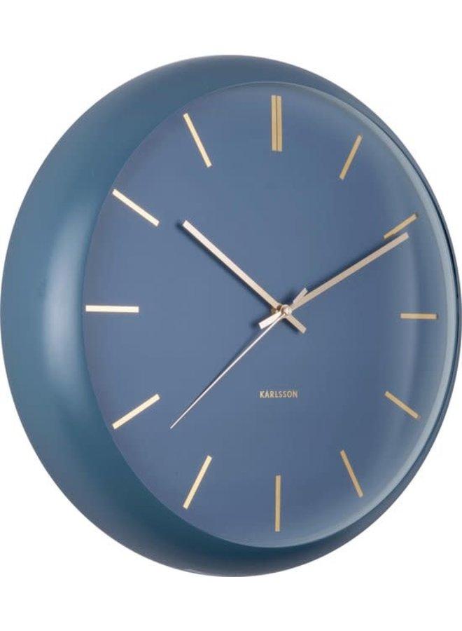Wall Clock Globe Blue