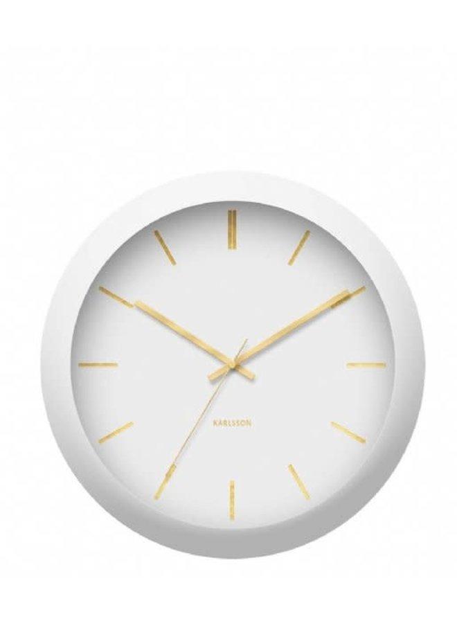 Wall Clock Globe white