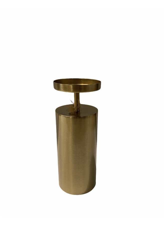 CANDLE HOLDER IRON GOLD 10.5X32.5