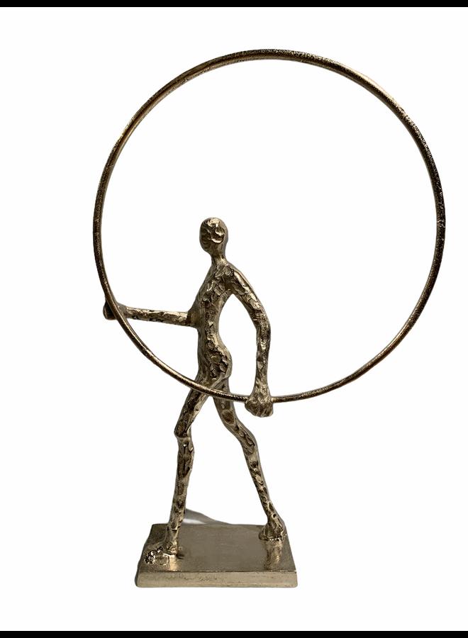 Decorative man w/circle 33x53x8
