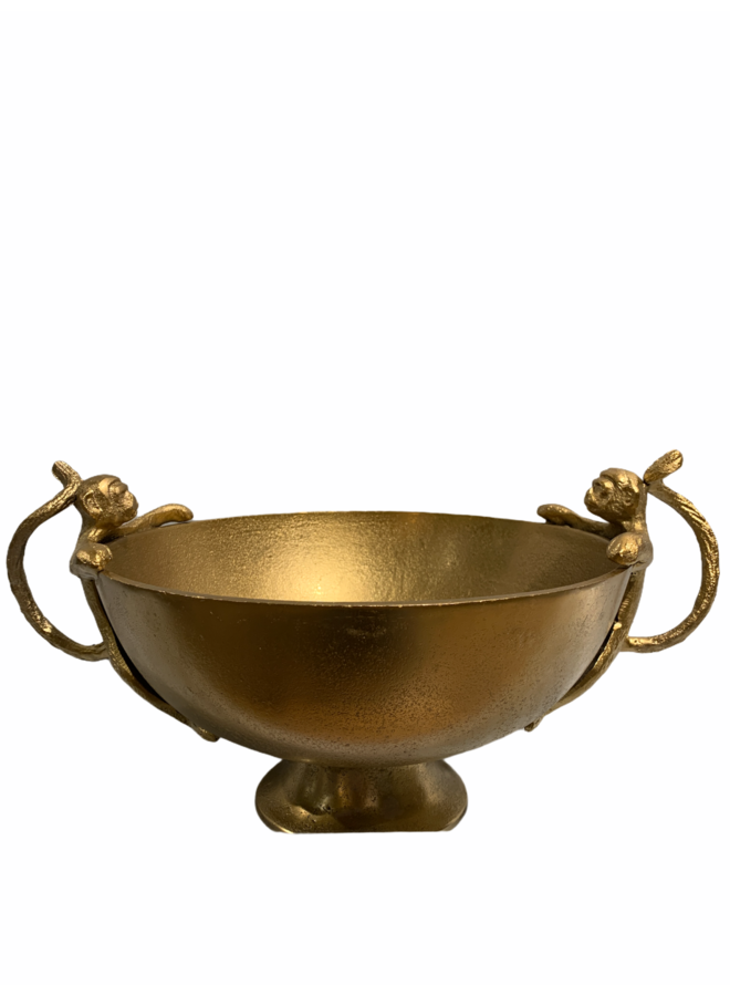 Bowl monkey handels alu bronze 42x30x21