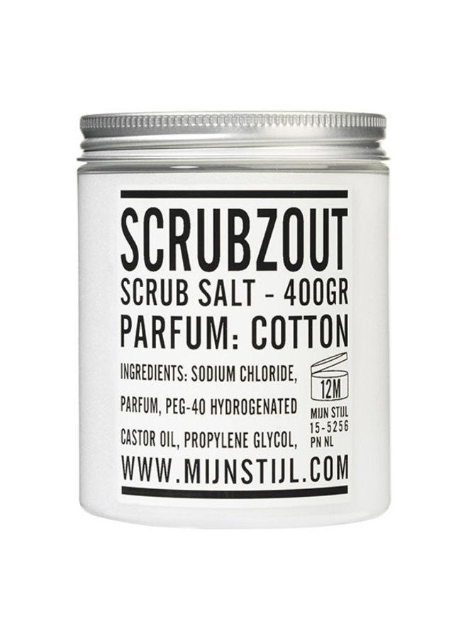 Scrubzout parfum Cotton 400 gram