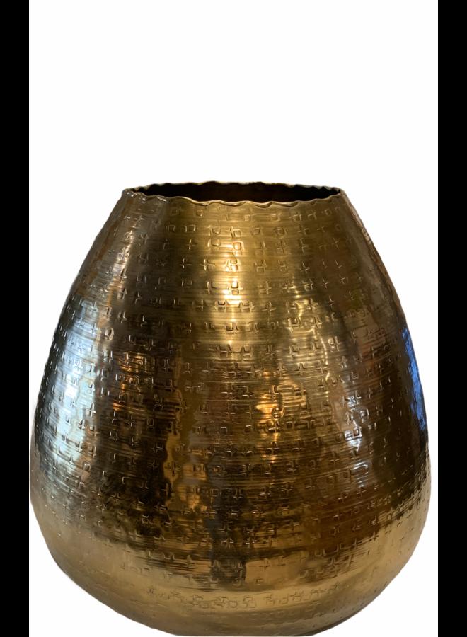 Vase alu raw bronze 32x32x29