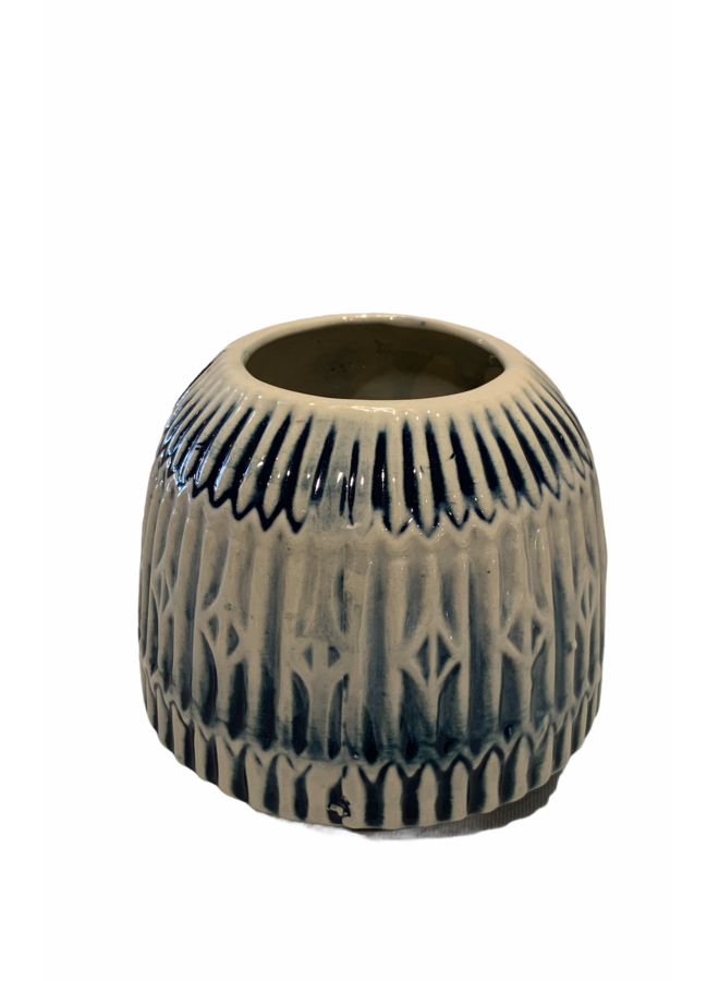 Vase blue 10x10x10