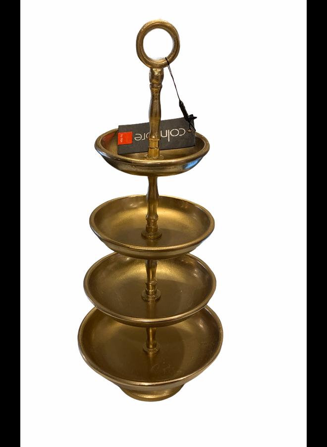Etagère 4 tier alu raw bronze 22x22x50