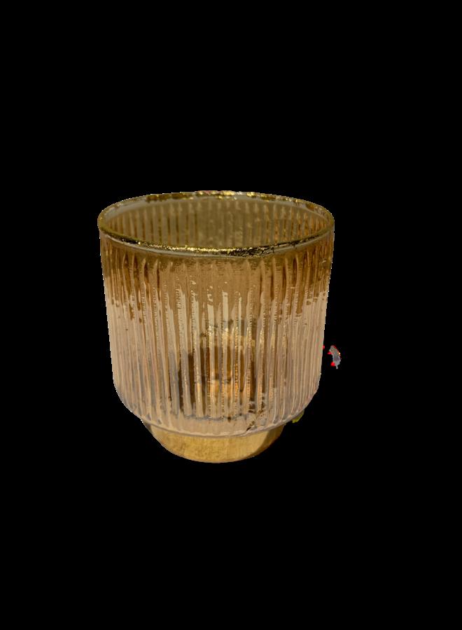 GLAS/GOUD WAXINE 8X8CM