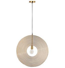 Hanglamp Goud Cirkel Draad Large