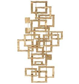 Wanddecoratie Goud Rechthoeken Metaal