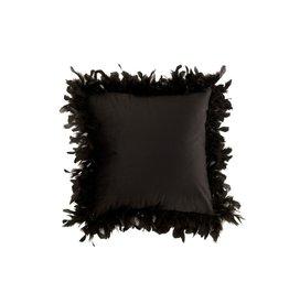 Kussen Zwart Pluimen Polyester