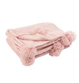 Plaid Baby Roze Pompom Polyester