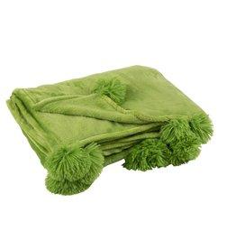Plaid Groen Pompom Polyester