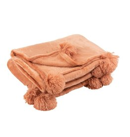 Plaid Oud Roze Pompom Polyester
