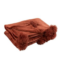 Plaid Rood Pompom Polyester