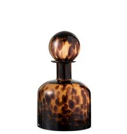 Decoratieve Fles Bruin Zwart Cheetah Small