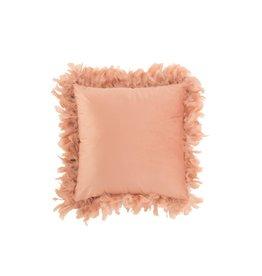 Kussen Licht Roze Pluimen Polyester