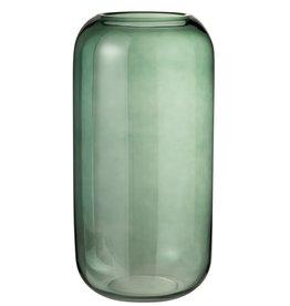 Vaas Groen Hoog Glas Large