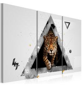 Schilderij Cheetah Driehoek