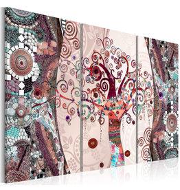 Schilderij Rudy Tree Roze 3 luiken