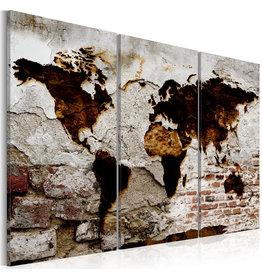 Schilderij Wereldkaart Urban Travels 3 Luiken