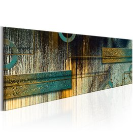 Schilderij Stylish Modernism Blauw Goud