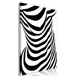 Schilderij Zebra Zwart Wit