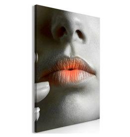 Schilderij Lippen Zwart Wit