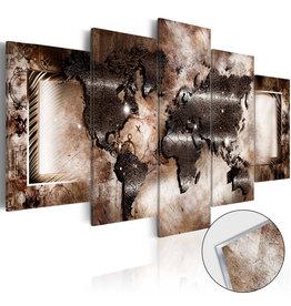 Schilderij Plexiglas Wereldkaart Platinum 5 Luiken