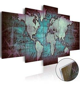 Schilderij Plexiglas Wereldkaart Acrylic 5 Luiken