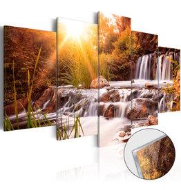 Schilderij Plexiglas Waterval Bruin 5 Luiken
