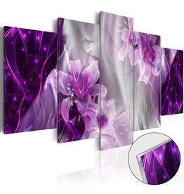 Schilderij Plexiglas Bloemen Paars 5 Luiken