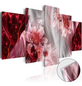 Schilderij Plexiglas Bloemen Rood 5 Luiken