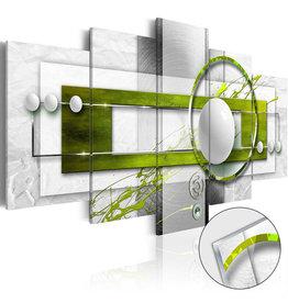 Schilderij Plexiglas Groen Grijs 5 Luiken