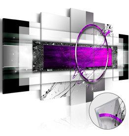 Schilderij Plexiglas Abstract Paars Grijs 5 Luiken