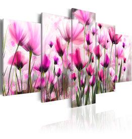 Schilderij Roze Bloemen 5 Luiken