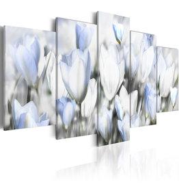 Schilderij Licht Blauwe Bloemen 5 Luiken
