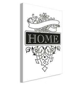 Schilderij Home Zwart Wit