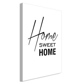 Schilderij Home Sweet Home Zwart Wit