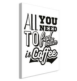 Schilderij Feel Better Coffee