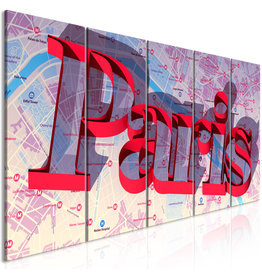 Schilderij Parijs Rood 5 Luiken