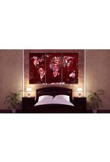 Schilderij Ruby Red World 3 Luiken