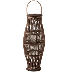 Lantaarn Bruin Bamboe Large