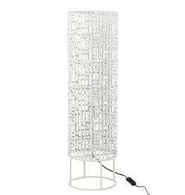 Vloerlamp Wit Rond Metaal Large