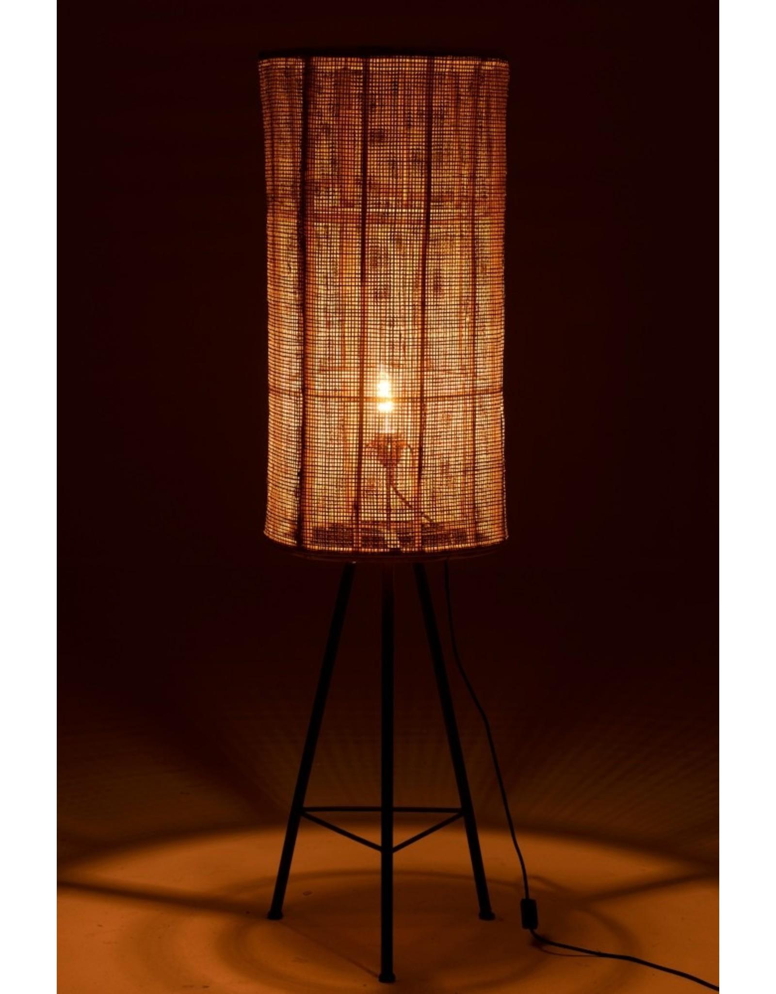 Vloerlamp Bruin Rotan