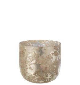 Vaas Grijs / Greige Breed Glas