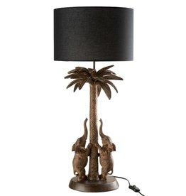 Lamp Palmboom Olifanten Bruin Zwart