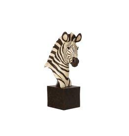 Beeld Zebra op Voet Zwart Wit